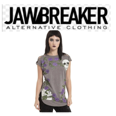 SKULL N ROSE TEE BY JAWBREAKER