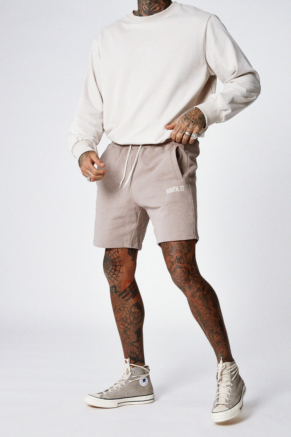 """LOUNGE"" SHORTS - Grey violet"