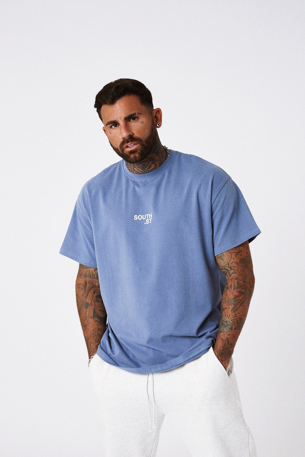 """CENTRAL"" Tee - Blue"