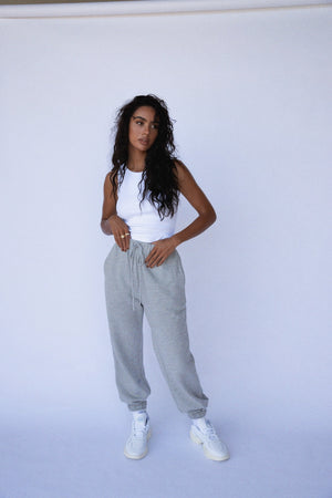 """NO PLANS"" SWEATPANTS - Grey"