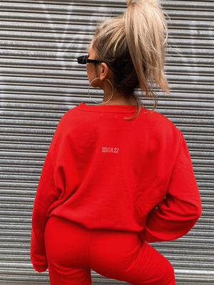 """COLLEGE"" SWEATER - Red"