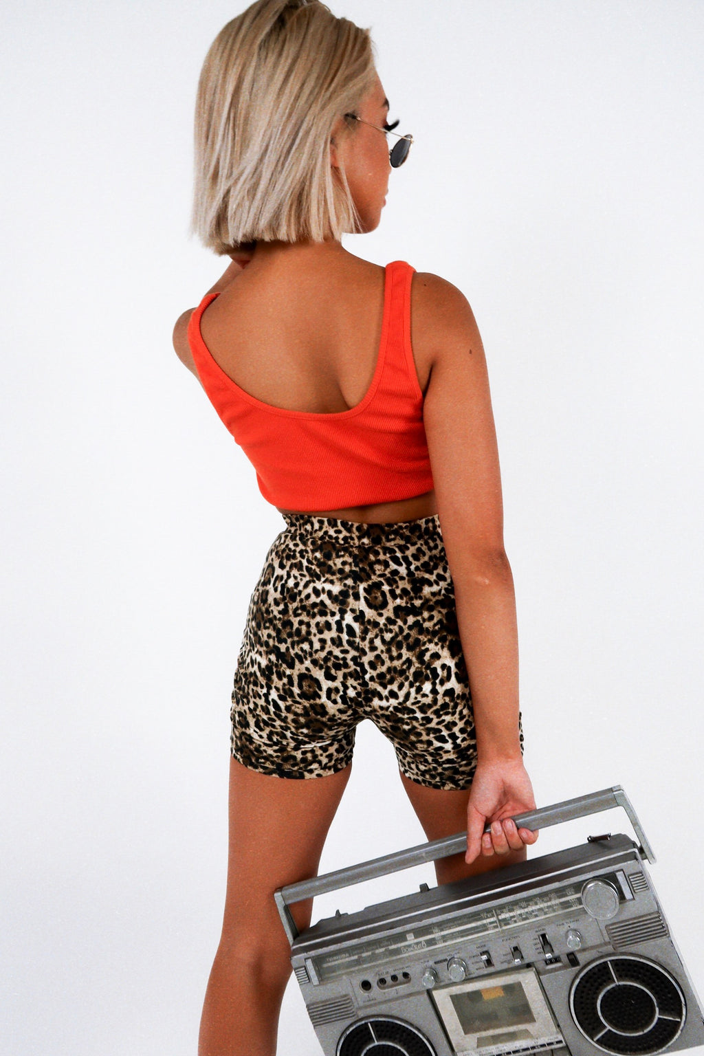 """ON FIRE"" CROP - ORANGE"