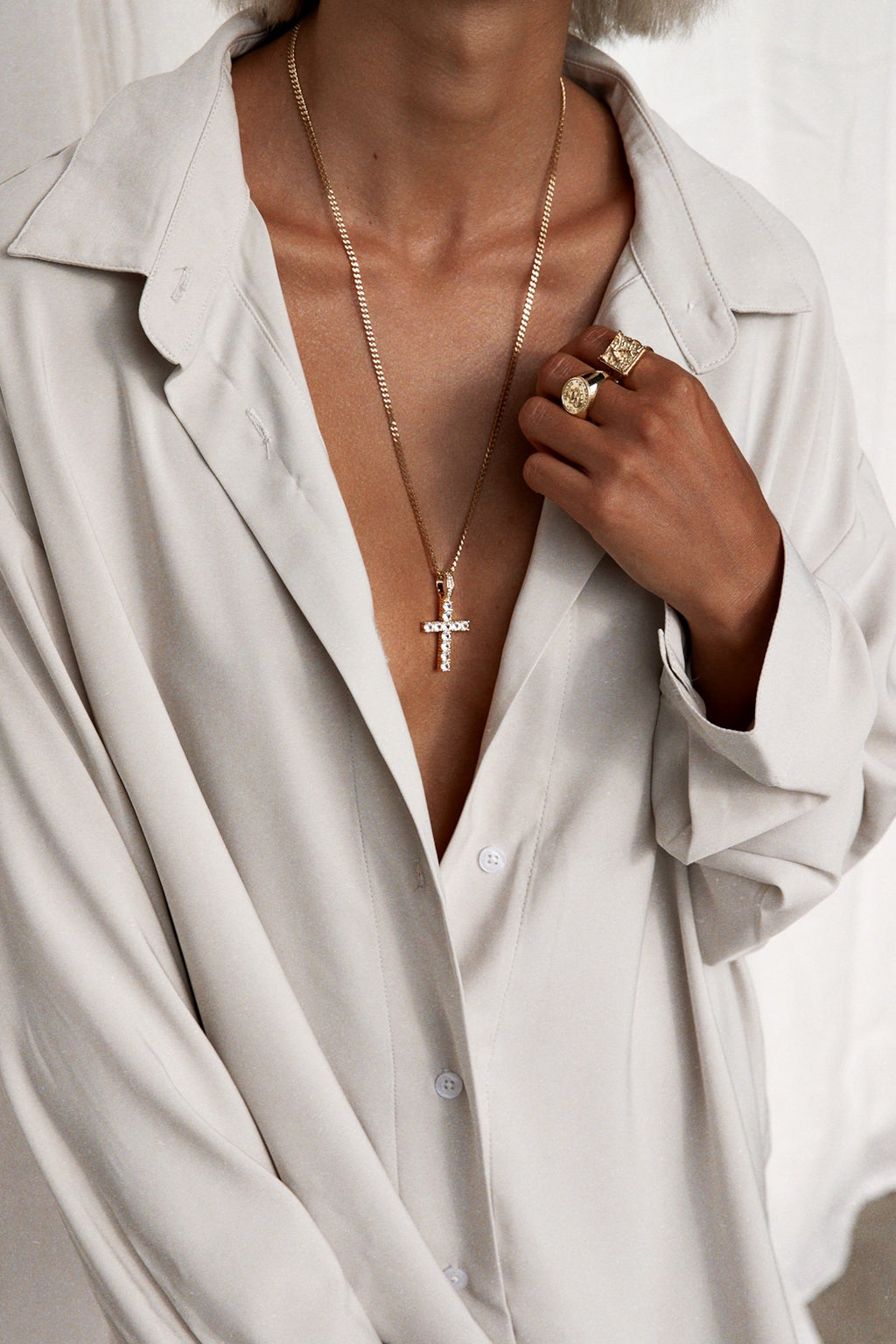 """CROSS LOVERS"" NECKLACE"