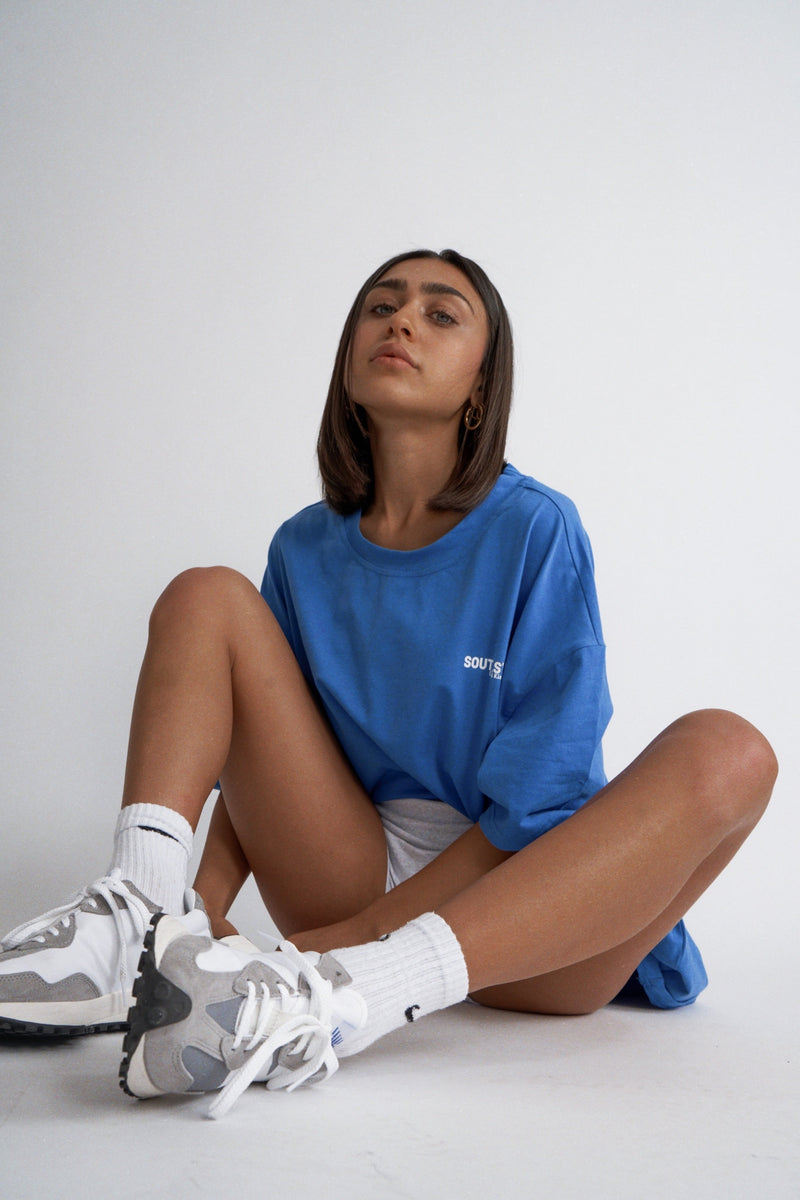 """COOL&KIND"" TEE - Blue"