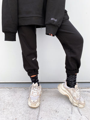 """NO PLANS"" SWEATPANTS - Black"