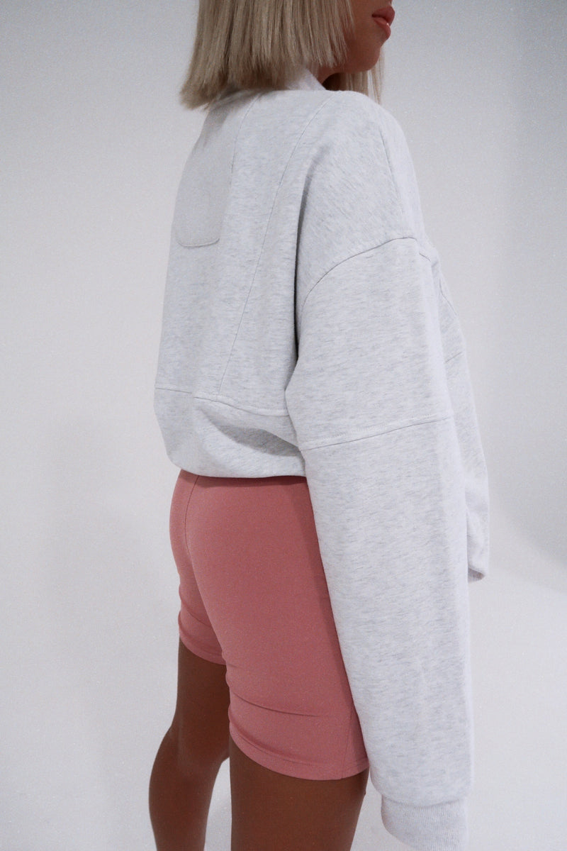 """LONDON"" Zip Pullover - Grey"