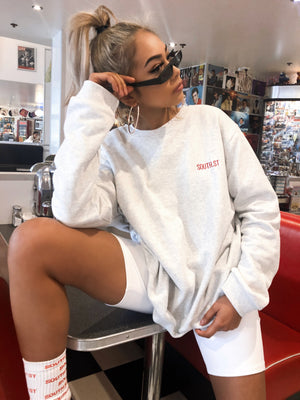 """COLLEGE"" SWEATER - Grey"