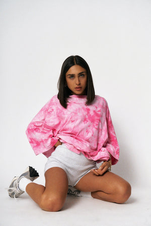 """STAINED"" TEE - Pink Tie-Dye"