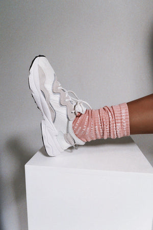 """STREET"" SOCKS - Pink/white"