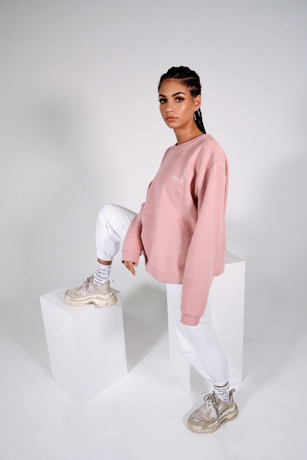 """SEASONS"" SWEATER - Pink"