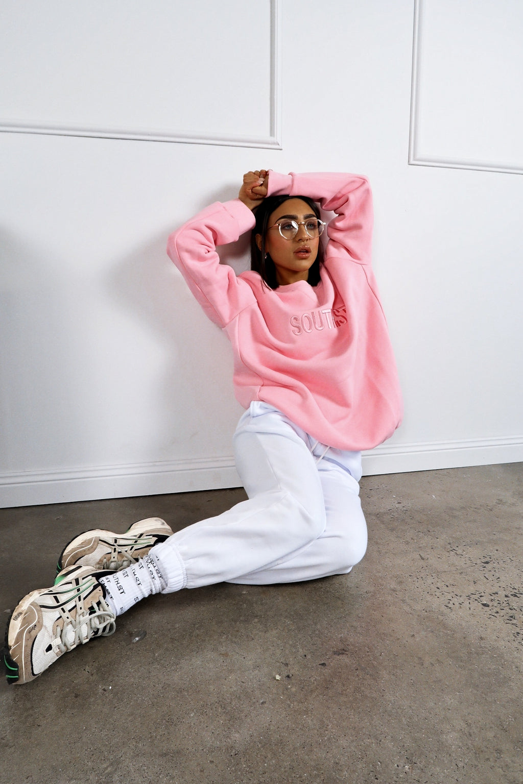 """MONDAY"" SWEATSHIRT - Pink"