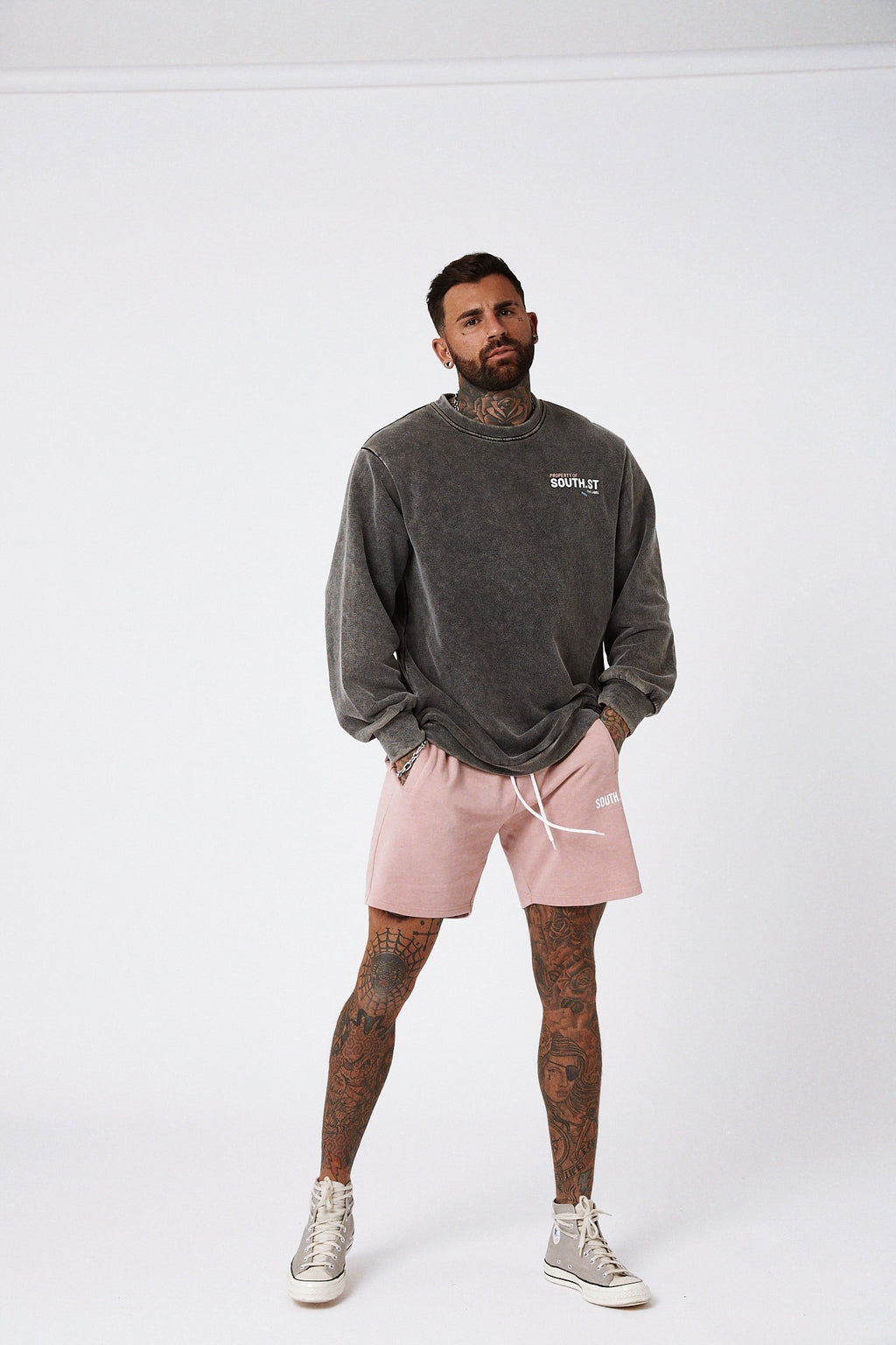 """LOUNGE"" SHORTS - Dusty pink"