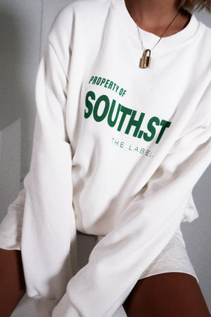 """PROPERTY"" Sweater - White/green"