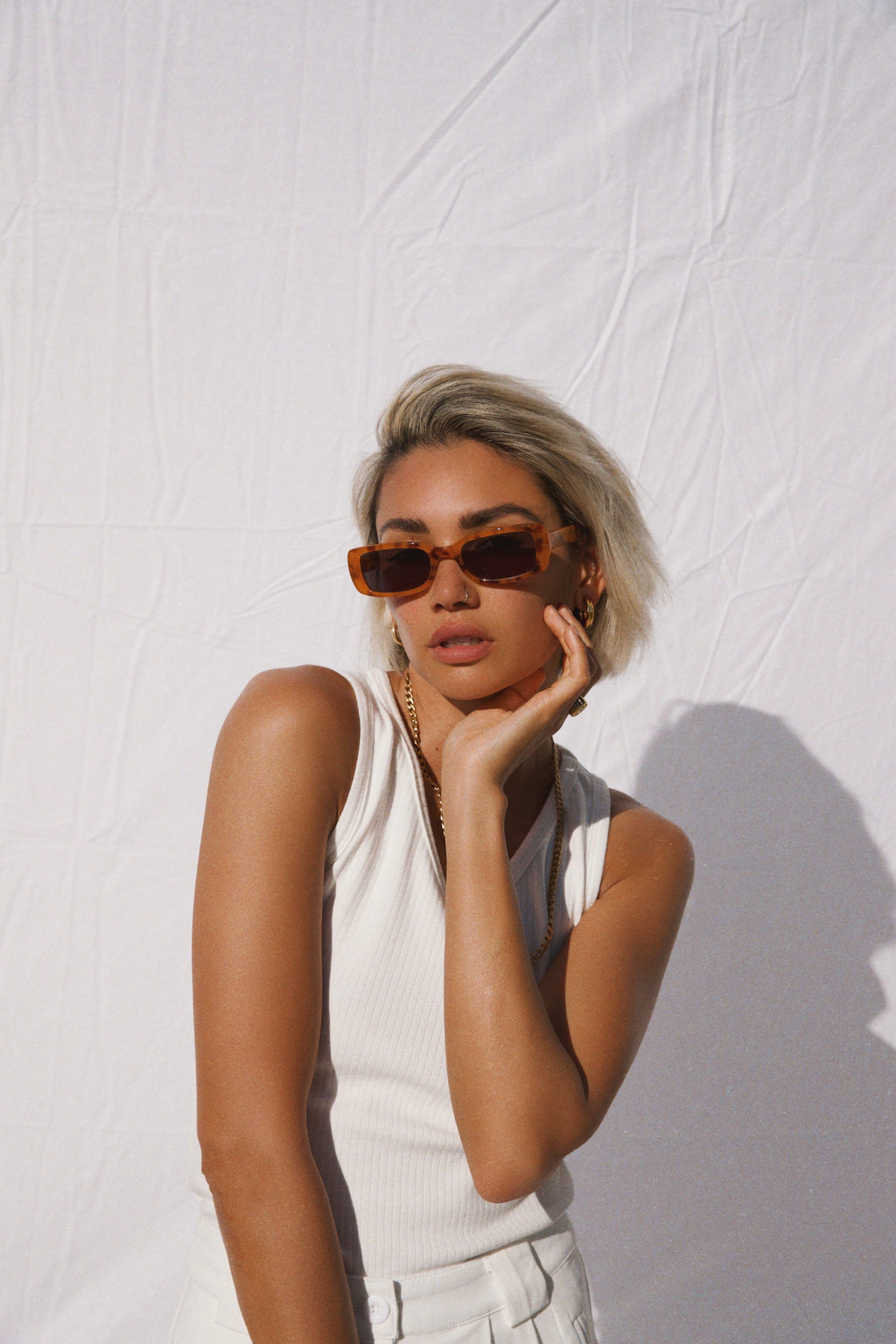 """EVIE"" SUNGLASSES - Butterscotch"