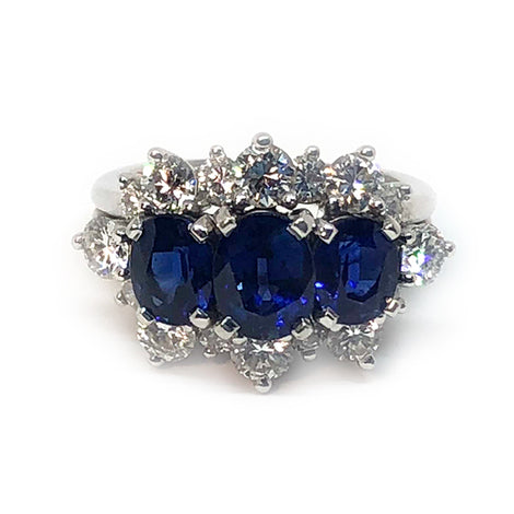 Kirk Wayne Sapphire and Diamond Ring