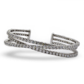 W/G Diamond Bangle Bracelet