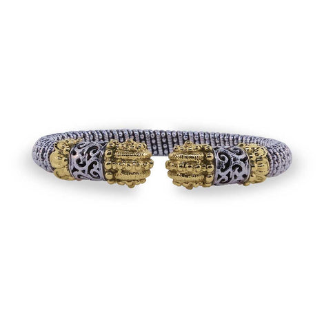 Two Tone Gold and Sterling Bracelet