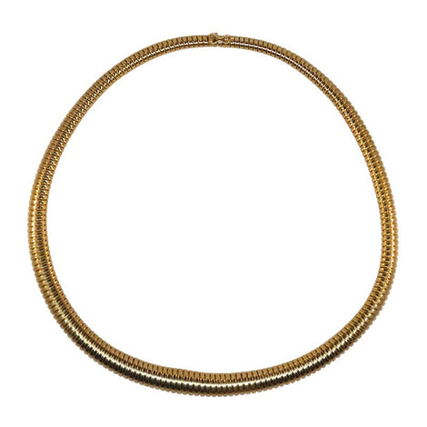 14kt Y/G Omega Snake Necklace