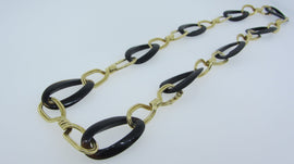 18KT Y/G Tortoise Link Necklace