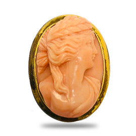 Victorian Hand Carved Pin.