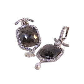 24kt Grey Diamonds Earrings