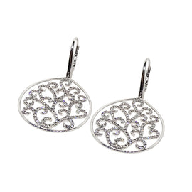 Jenny Perl 18KT white gold Diamond - Tree of Life Earrings