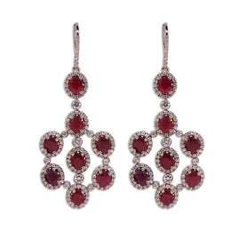 Diamond and Ruby Earrrings