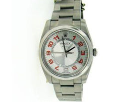 Mens Stainless Steel Rolex Air King