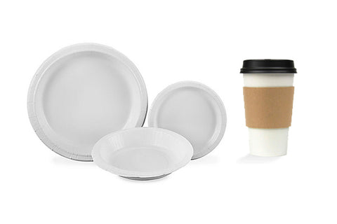 Paper Plates, Bowl and Cup