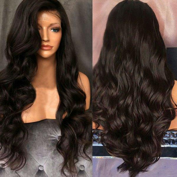 100% VIRGIN HUMAN HAIR NATURAL LACE WIG -- Last 6 Hours Promotion 60 ...
