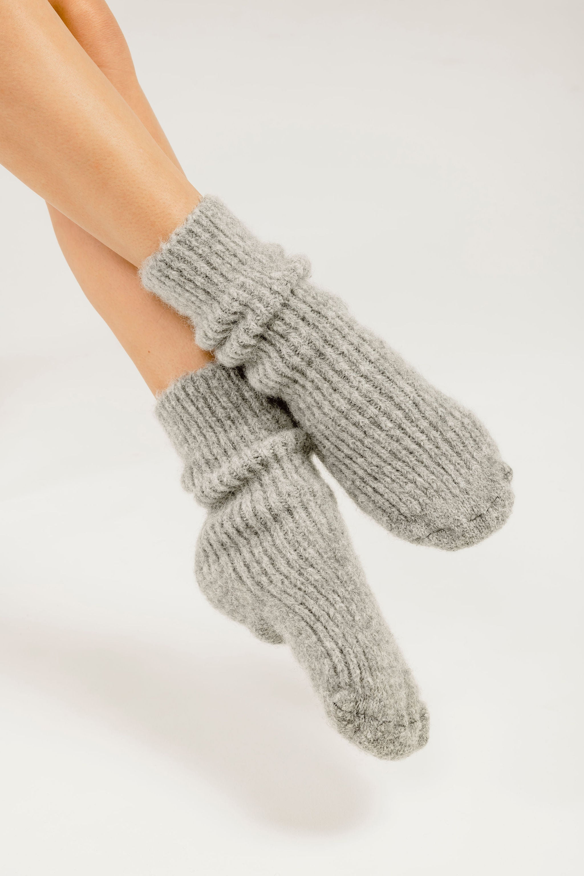 Alpaca wool socks - slipper socks - bed socks Kapeka