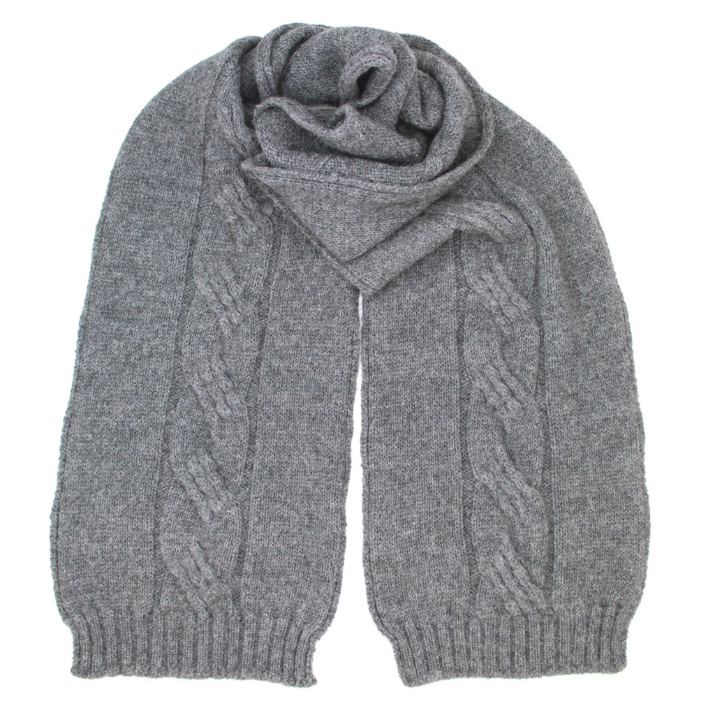 Grey Alpaca Possum scarf - Kapeka NZ
