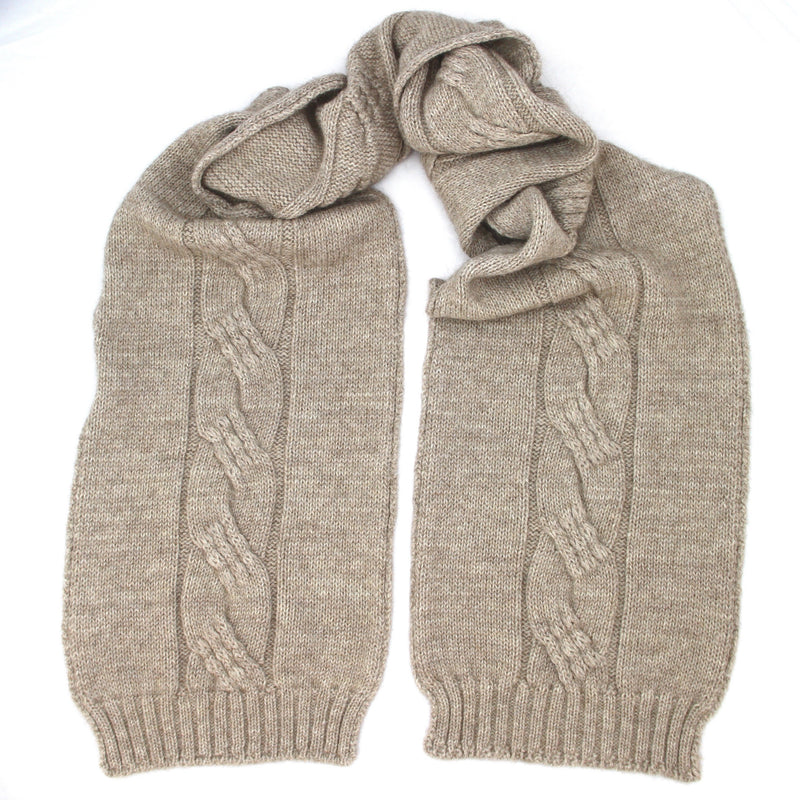 Natural Alpaca Possum scarf - Kapeka NZ