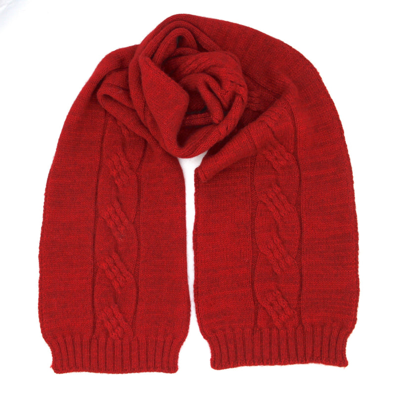 Red Alpaca Possum scarf - Kapeka NZ