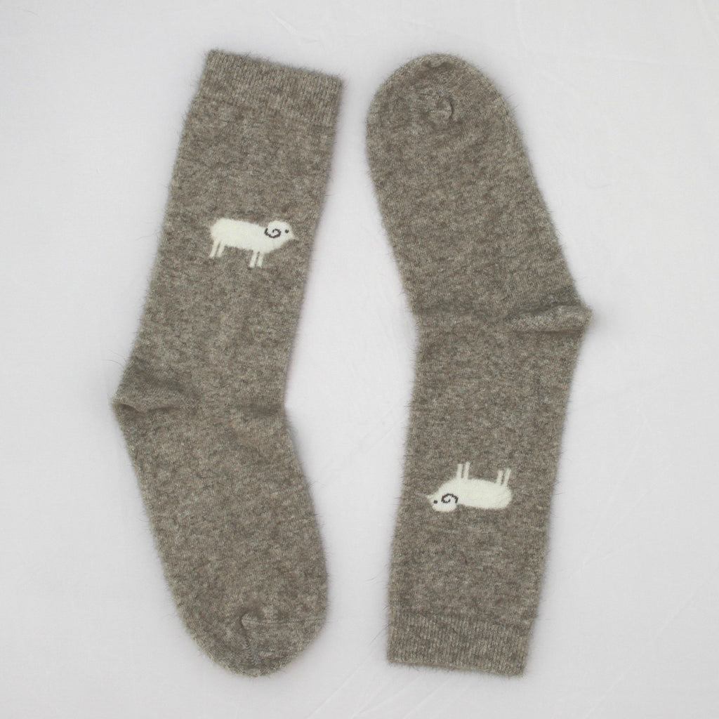 Possum Merino Sheep Socks