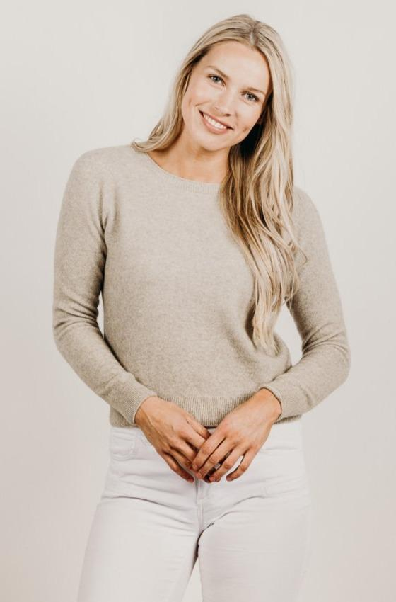 Cashmere Cropped Sweater - Kapeka NZ