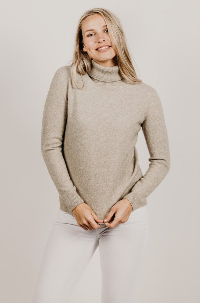 Cashmere Turtle Neck Sweater - Kapeka NZ
