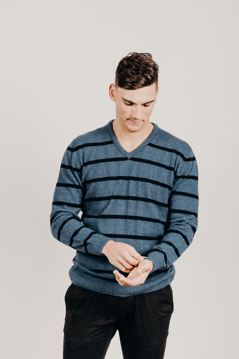 Merinosilk V-Neck Golf Sweater - Kapeka