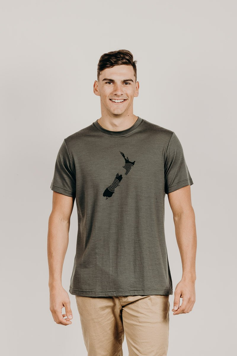 Merino Wool NZ T-Shirt - Kapeka
