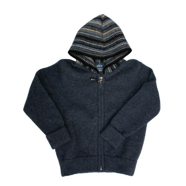 Kids Edition Merinosilk Stripe Trim Zip Hoodie - Kapeka
