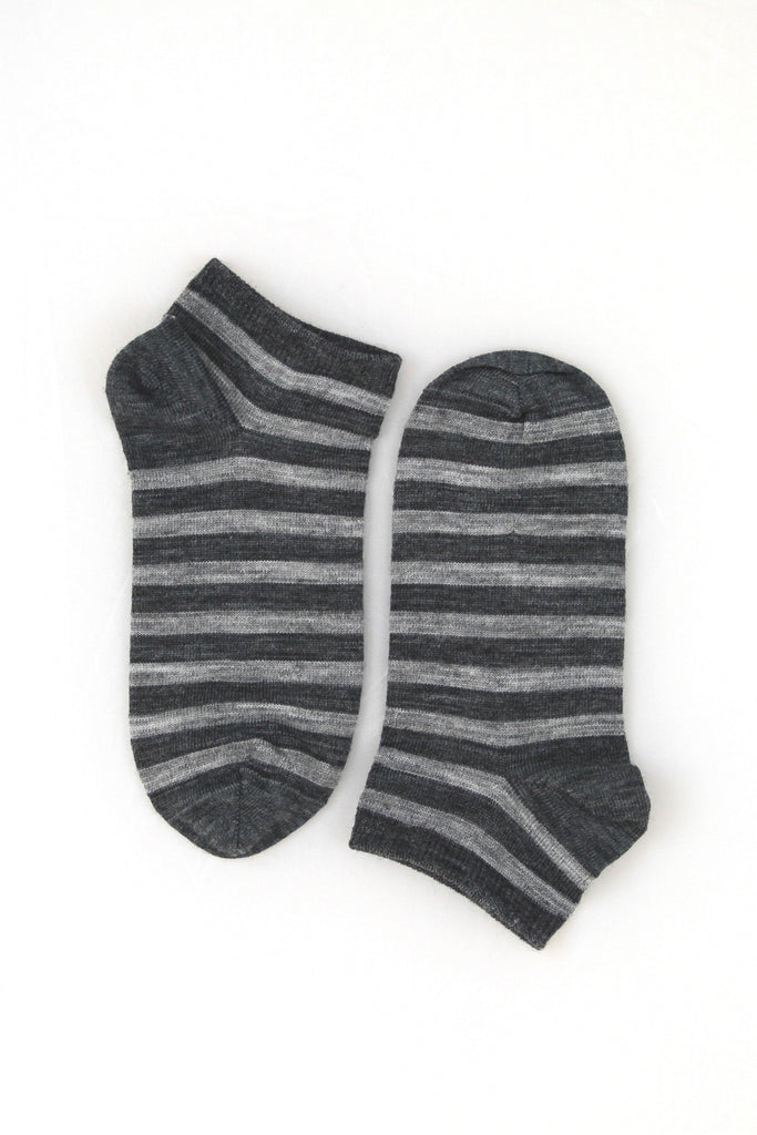 Merino striped ankle socks - Kapeka NZ