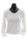 Women's White Merino Thermal Top - Kapeka NZ
