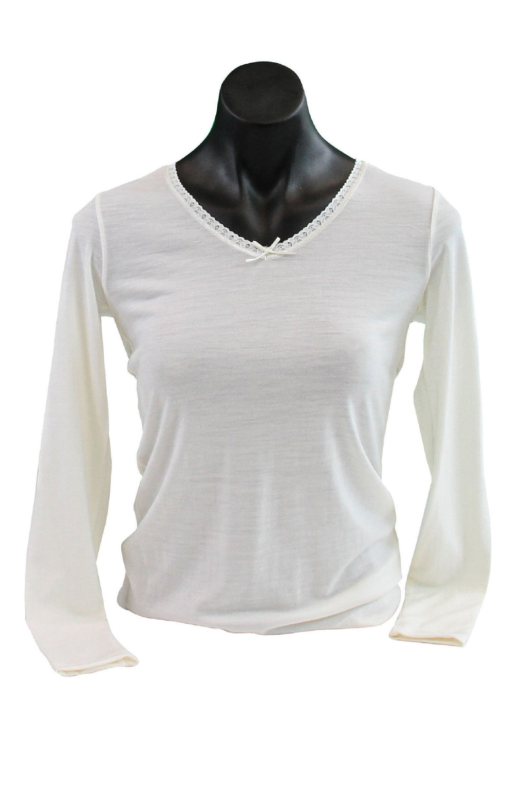 Women's Merino V-Neck Long-Sleeved