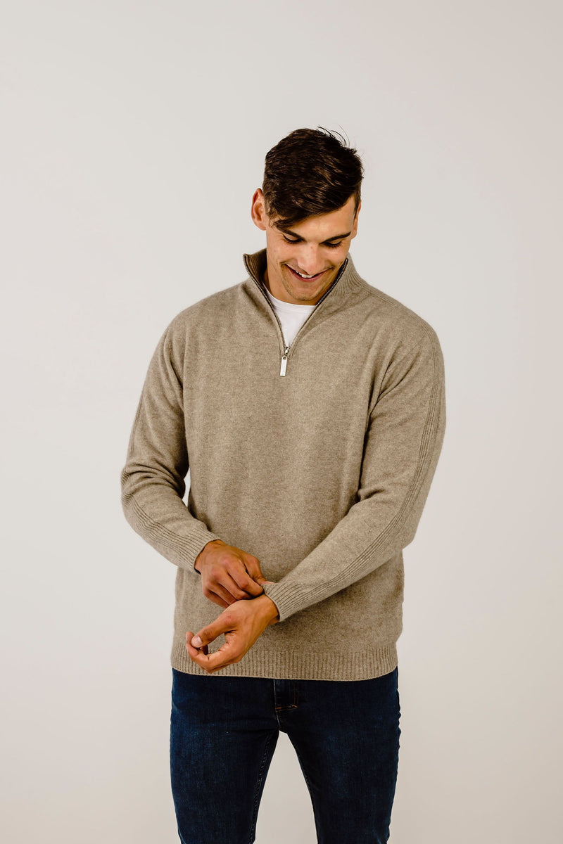Merinosilk Classic Zip Neck Sweater - Kapeka NZ