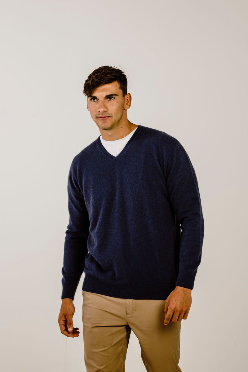 Cashmere V Neck Sweater - Kapeka NZ