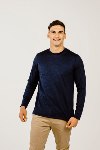 Merino & Silk Long Sleeve V Neck