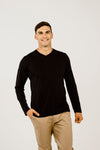 Merino Stripe Long Sleeve Crew Neck