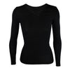 Womens Merino Long-Sleeve V Neck Thermal Shirt - Kapeka NZ