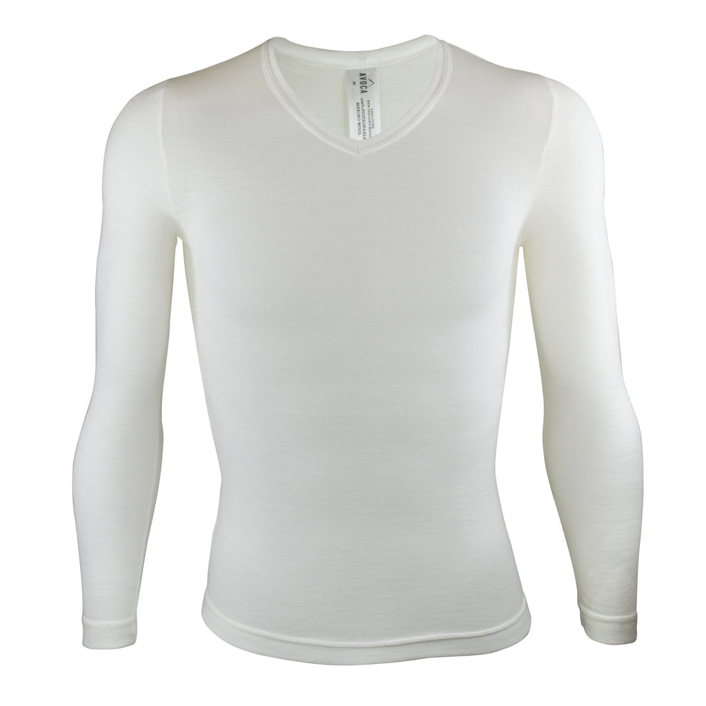 Merino Long-Sleeved V-Neck Thermal - Kapeka