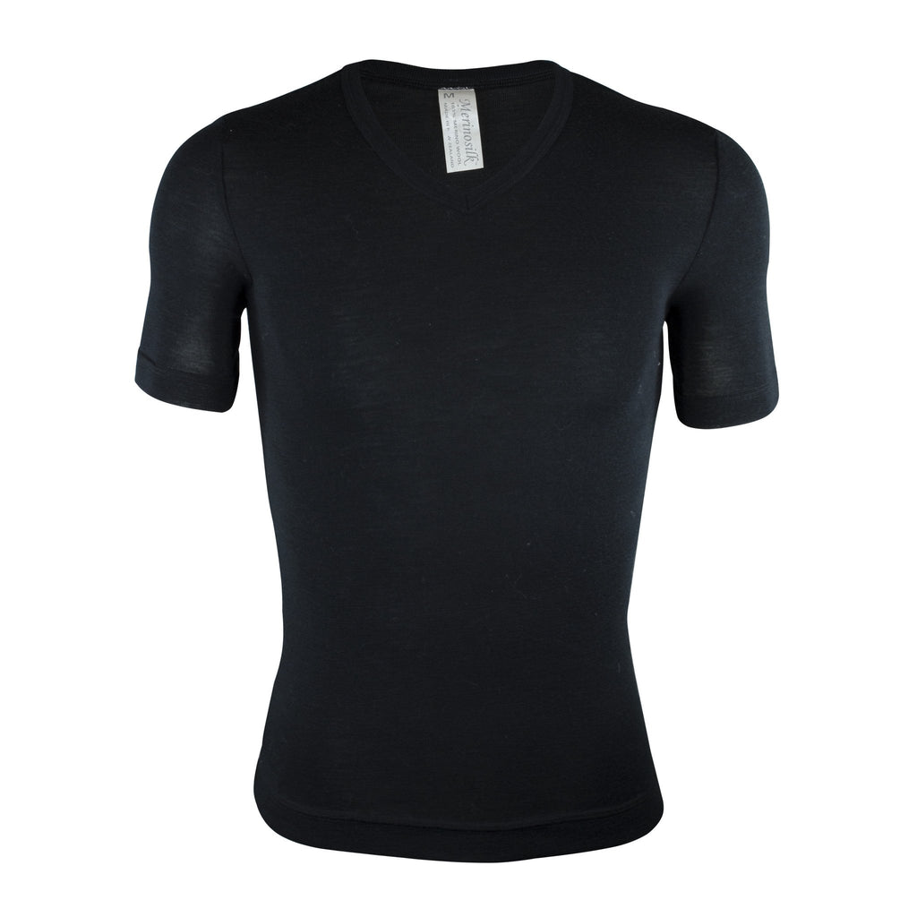 Merino Short-Sleeved V-Neck Thermal Shirt - Kapeka NZ